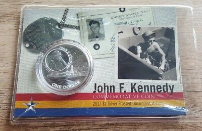 2017 1 oz Silver John F. Kennedy JFK Solomon Islands $1 Coin .999 Fine (In Assay