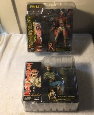 2 X Series 1 Iron Maiden Figure Piece Of Mind Somewhere In Time NIB