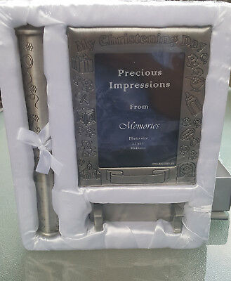 "Precious Impressions from Memories Silver Plate Keepsake ""My Christening Day"""