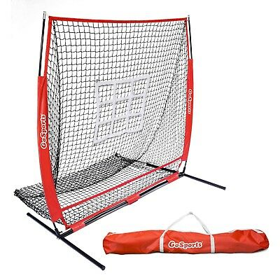Baseball Pitching Net With Strike Zone Softball Practice Fielding Net 5x5 Play