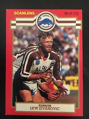 #96  1986 Scanlens Penrith Panthers Rugby League NRL Card - Near Mint