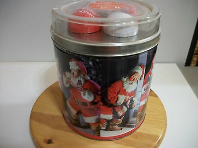 COCA COLA Popcorn Tin with Collectible Holiday Ornamental Set 2009 **NEW**