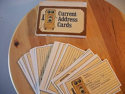 1978 Current 60 ADDRESS CARDS NIB 3x5 Picture Of Antique Telephone On Parchment