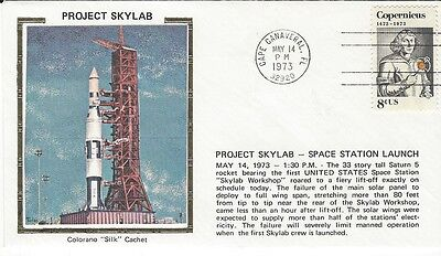 1973 Project Skylab - Space Station Launch cover with Colorano Silk cachet