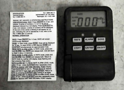 Radiac Set AN/UDR-13 Military Hand Held with Instructions Card