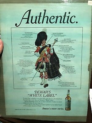 Vintage 1971 Original Print Ad Authentic DEWAR'S WHITE LABEL SCOTCH WHISKY