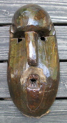 """Mexican mask hand carved wood a """"Hermit mask"""" Pastorela Dance Tarascan Indians"""