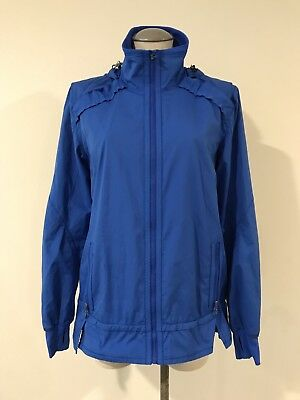 Lululemon Athletica Women's Jacket 10 Blue Zip Up Light Weight Coat Long Sleeve