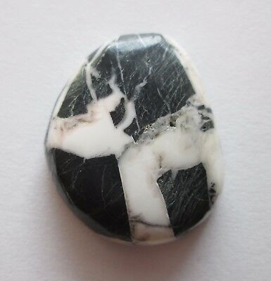 32.50 ct 100% Natural White Buffalo Howlite Cabochon Gemstone, # DP 045