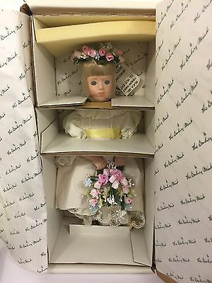 New in Box Danbury Mint Collectible Princess Diana's Flower Girl Porcelain Doll