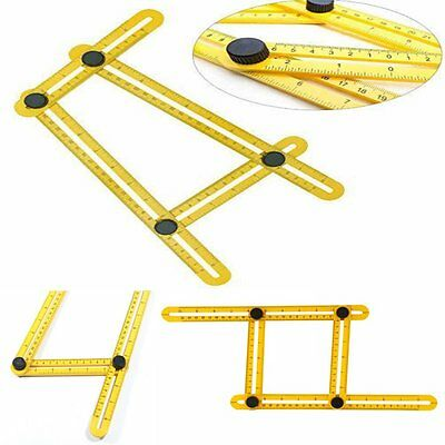 Angle Ruler Easy Amenitee Multi-Angle Measuring Ruler Tool Template Carpenter