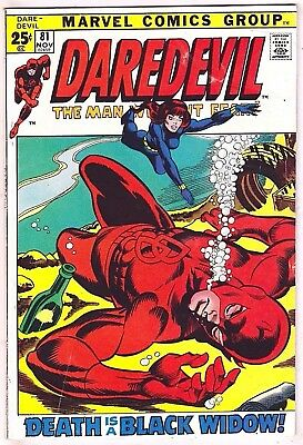 Daredevil#81 Vf 1971 Marvel Bronze Age Comics