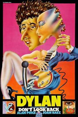 """Bob Dylan """"Don't Look Back"""" POSTER 1967 British Release"""