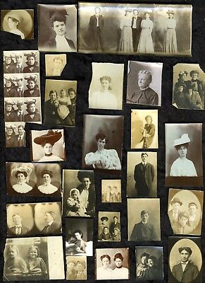 Lot of vintage original photo booth photos sub small cameo sized unique rare