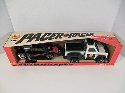 1986 SHELL Pacer and Racer Tonka Playset in Original Box Gas Oil Truck Race Car