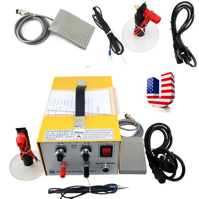 ELECTRIC Pulse Sparkle Spot Welder Jewelry Welding Machine Platinum USA STOCK CE