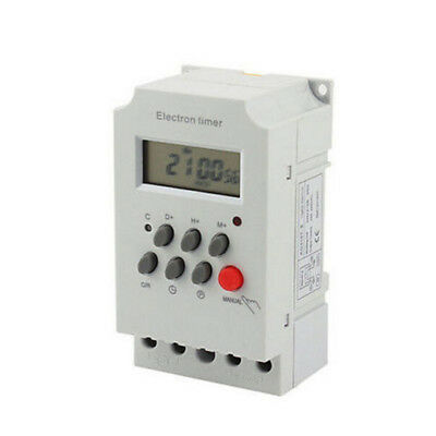Digital LCD Electronic Plug-in Programmable 7 Day 12/24 Hour Timer Switch Socket