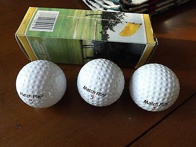 Vintage Matchplay Golf Balls New in Sleeve- Canadian Tire Brand.
