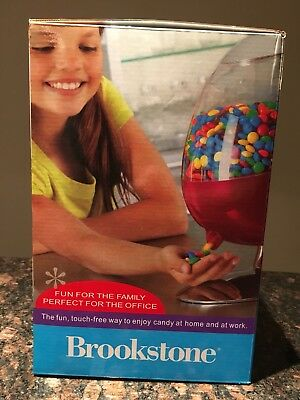 Brookstone Candy Dispenser Motion Activated Sharper Gumball Machine Candyman New