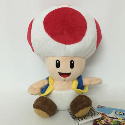 New Super Mario Bros. Wii Plush Red Toad Soft Toy Stuffed Animal Teddy Doll 7""