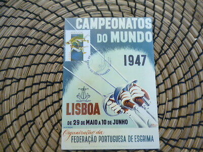 Portugal reproduction card 1947 Campeonatos Do Mundo Lisbon  used card
