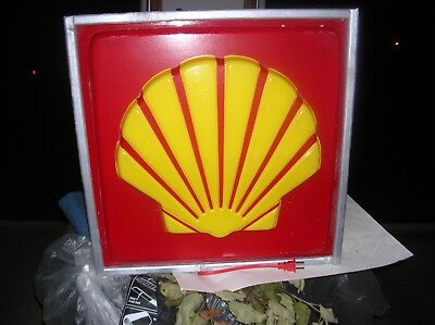 Shell Lighted Gas Sign Oil Sign