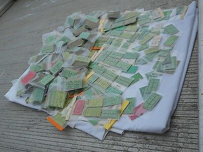Vintage Huge Hord Job Lot Of 2000  1980S Railway Tickets Sold In One Lot