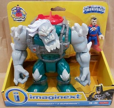 Imaginext Doomsday & Superman Action Figure - DC Super Friends NEW Fisher Price