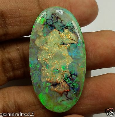 14.25 CT FIRE OPAL GIE Certified 100% NATURAL Top Quality Oval Shaped Superb Gem
