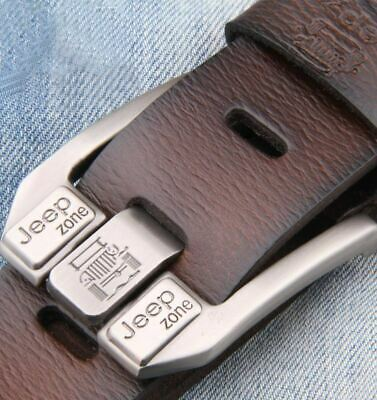 Jeep Long Men's Fashion Belt Genuine leather Jeans Belt Waistband Waist Strap