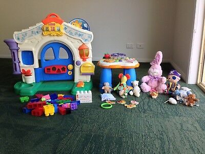 Baby Toy Bundle(activity Table,castle,pirate,bunny,blocks....bulk Toys)