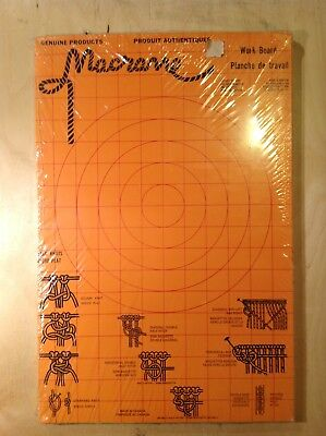 """2 Vintage Macrame Boards Genuine Made In Canada 18"""" X 12"""", 1 New / 1 Used"""