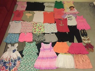 Bulk lot girls sz 6 summer clothes mostly near new Emerson Target H+T plus shoes
