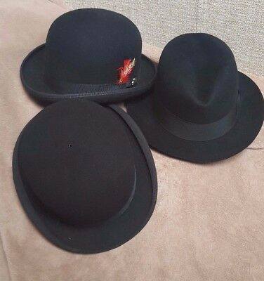 London Bowler Hat, Glasgow Trilby Hat & USA Derby Hat Job Lot
