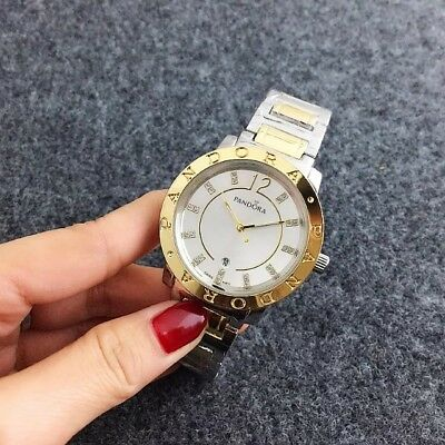 Hot Brand Fashion Women Accessories Gold Wristband Womens Pandoras Wrist Watches