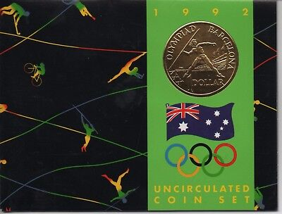 AU - 1992 Uncirculated Coin Set - Featuring new $1 Olympic Games Coin