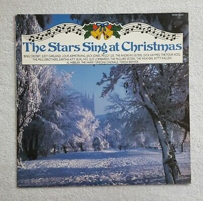 Various – The Stars Sing At Christmas Vinyl LP Hallmark Records Excellent