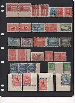 AU - PRE-DECIMAL MINT Stamps - Some Blocks - Some Hinged - with some toning