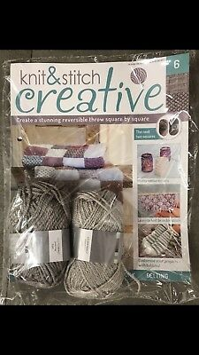 Knit and Stitch Creative issue 6 new  PART-WORKS + 2 balls wool