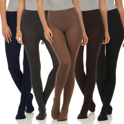 2er Pack Damen Thermo Strumpfhosen Leggings Hose Pants mit Innenfleece CL 1515