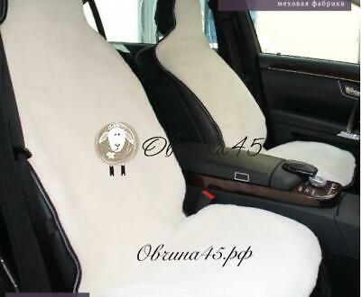 Seat Covers From Sheepskin, White