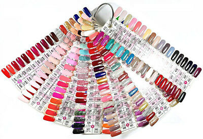 DND Daisy Gel Polish Color Sample Chart Palette Display NEW