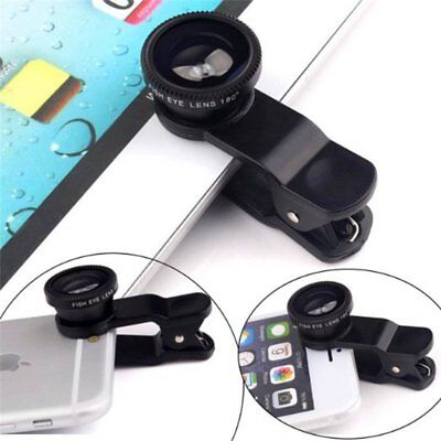 Cell Phone Clip Lens Universal Wide Fish Eye For iPhone Samsung HTC Macro Lens
