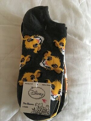 Official Disney 6 Pairs Of Lion King Ladies Socks Liners Bnwt Uk Size 3-8
