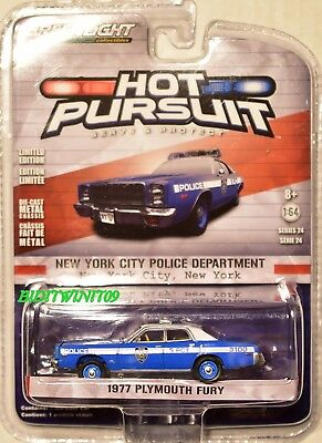 Greenlight 2017 Hot Pursuit Series 24 1977 Plymouth Fury Scale 1:64