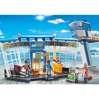 Playmobil Airport with Control Tower Play Set with Action Figures (5338)