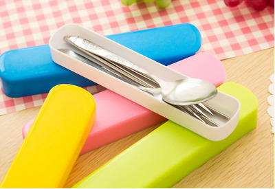 New Portable Lunch Tableware Cutlery Set Stainless Steel Spoon Fork Chopsticks