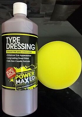 Power Maxed Tyre Dressing - 1 Litre with free Applicator Pad