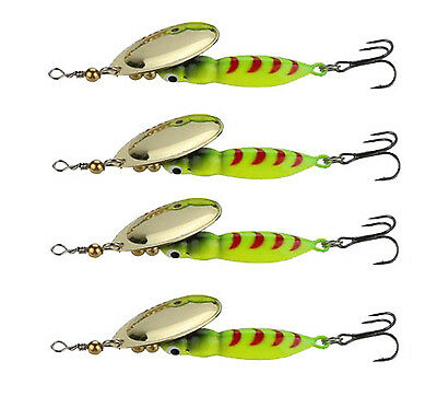 4pcs Spinner Baits 15.6g Fishing Lures Spinnerbait Trout Metal Spoon Willow Bait