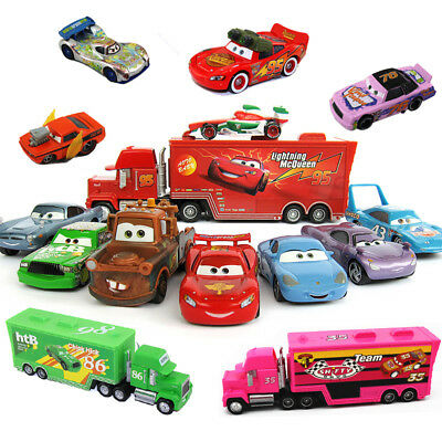 Disney Pixar Cars 3 2 1 King Truck Mack Hauler 95 86 Giocattoli Chick Hicks Toys